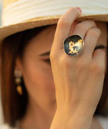 Ioana Enache amethyst ring