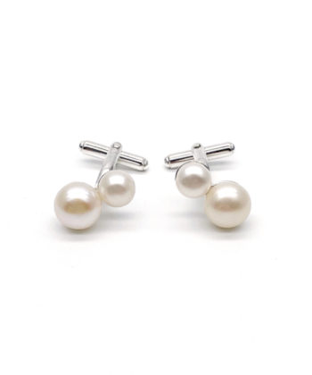 pearly sterling silver cufflinks