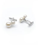 sterling silver cufflinks with pearls