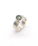 sterling silver ring with 18k yellow gold
