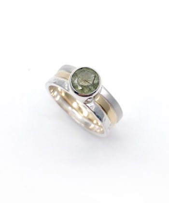 Ioana Enache sterling silver and gold ring