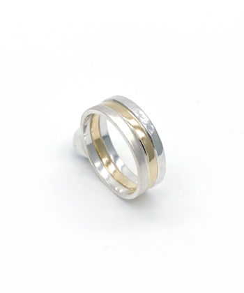 sterling silver and gold three rings