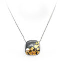 Sterling silver necklace with gold and cultured pearl